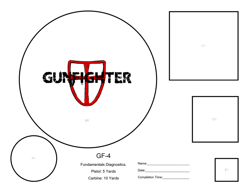 image about Printable Pistol Drill Targets named Gunfighter-Potential-Textbooks - Gunfighter Sequence